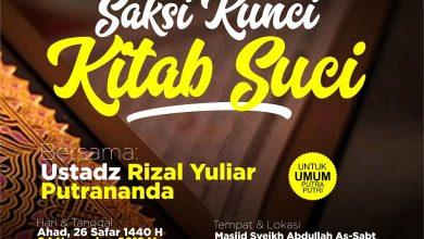 Photo of Saksi Kunci Kitab Suci – Ustadz Rizal Yuliar Putrananda, Lc