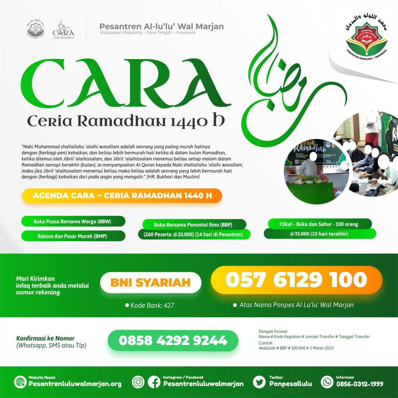 Proposal CARA (Ceria Ramadhan) 1440 H