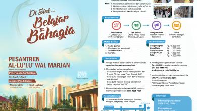 Photo of Informasi Penerimaan Santri Baru TP (Tahun Pelajaran) 2022/2023